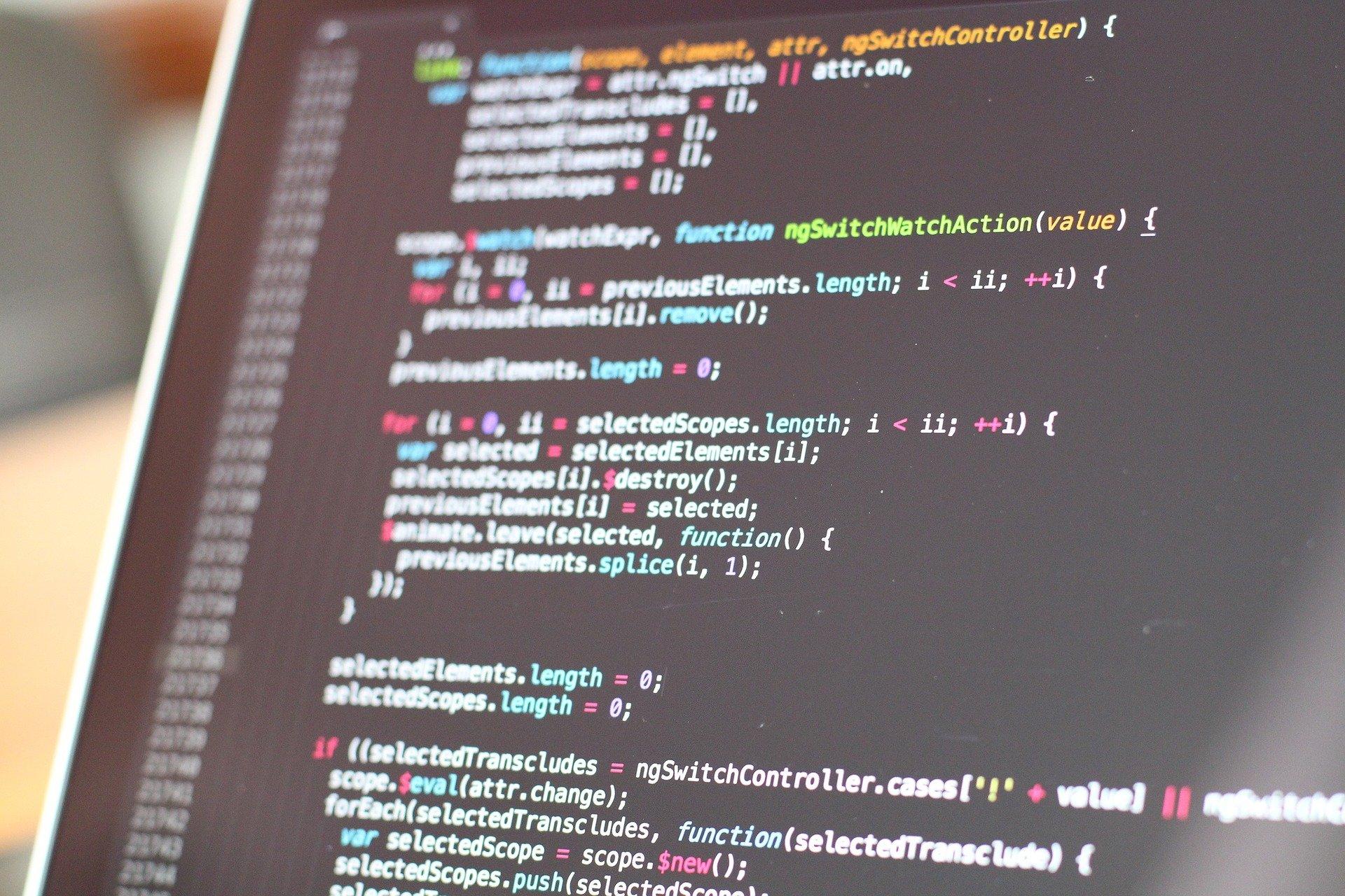 Code on monitor