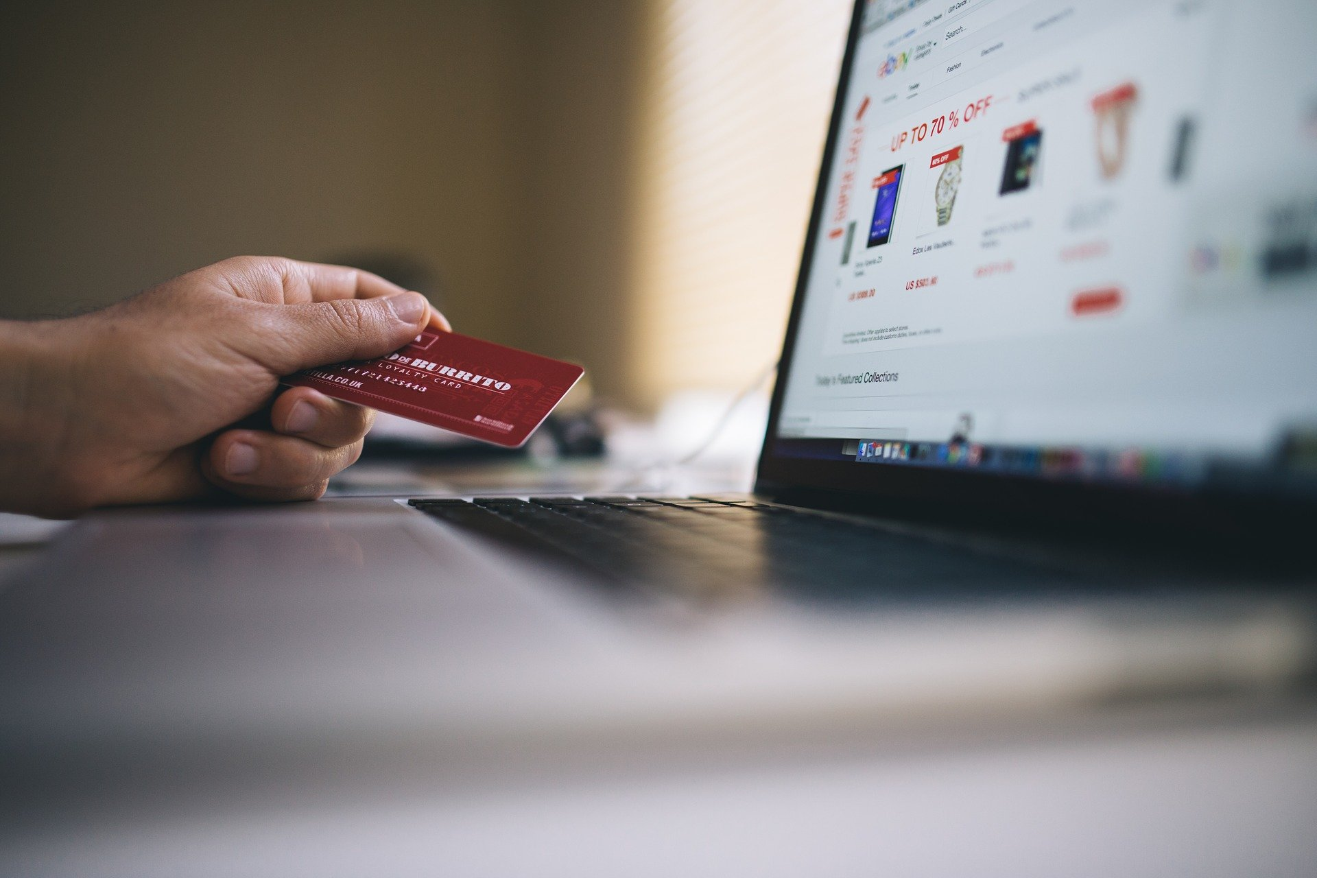 Laptop with credit Card