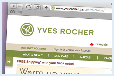 yves rocher website