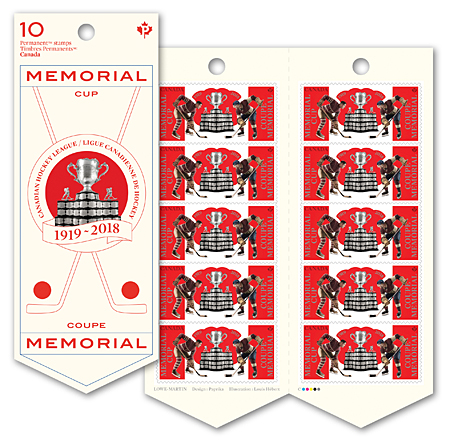 Memorial Cup Booklet of 10 stamps