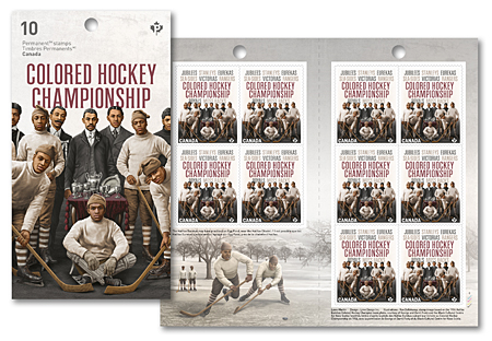 Booklet of 10 stamps - Black History: Colored Hockey Championship