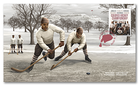 Official First Day Cover - Black History: Colored Hockey Championship