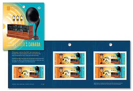 Booklet of 10 stamps - History of Radio in Canada