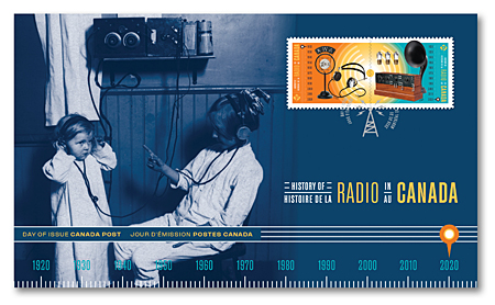 Official First Day Cover - History of Radio in Canada