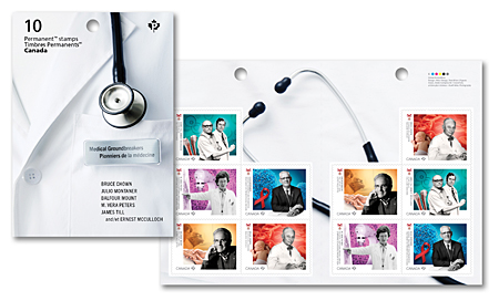 Booklet of 10 stamps - Medical Groundbreakers
