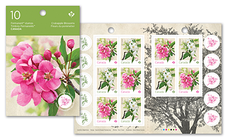 Booklet of 10 stamps - Crabapple Blossoms