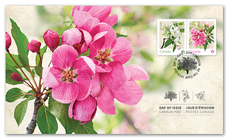 Official First Day Cover - Crabapple Blossoms