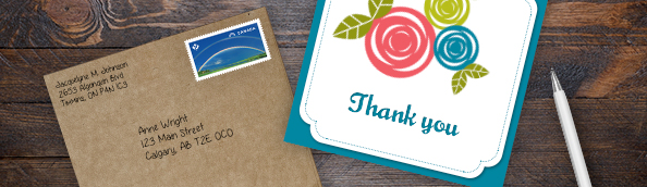 The Art Of Writing Thank You Cards Canada Post