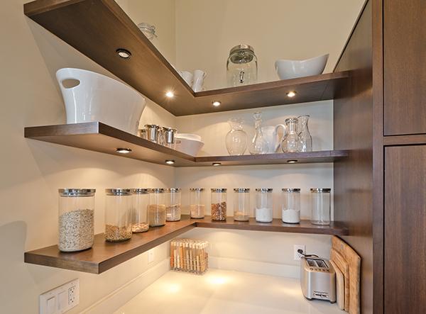 1 open shelving - Etagere Cuisine Moderne