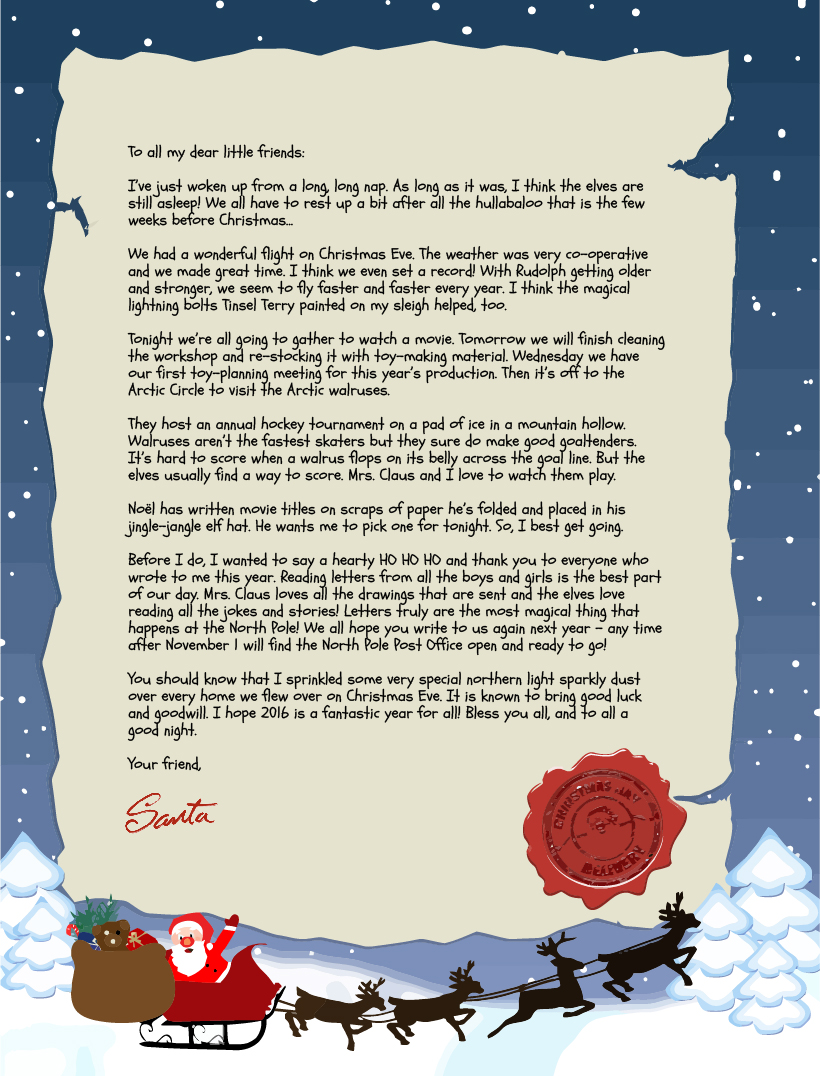 Write a letter to santa claus canada write a cv profile write a letter to santa claus canada spiritdancerdesigns Images