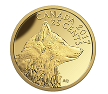 25-Cent Pure Gold Coin - Inuit Arctic Fox