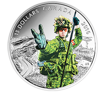 2016 $15 Pure Silver Coin - National Heroes: Military