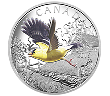 2016 $20 Pure Silver Coin - The American Goldfinch