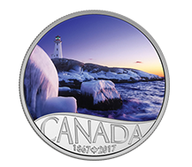 $10 Pure Silver Coin - Lighthouse at Peggy's Cove