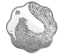 $15 Pure Silver Coin - Lunar Lotus: Year of the Rooster