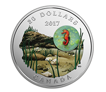$20 Pure Silver Coin - Under the Sea: Seahorse