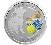 2017 25-Cent Coin - Love My Dog
