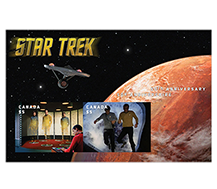 Star Trek - Animated posted souvenir sheet enlargement