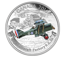 2016 $20 Pure Silver Coin - Aircraft of The First World War Series: Royal Aircraft