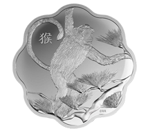 Year of Monkey $$15 Pure Silver Coin - Lunar Lotus