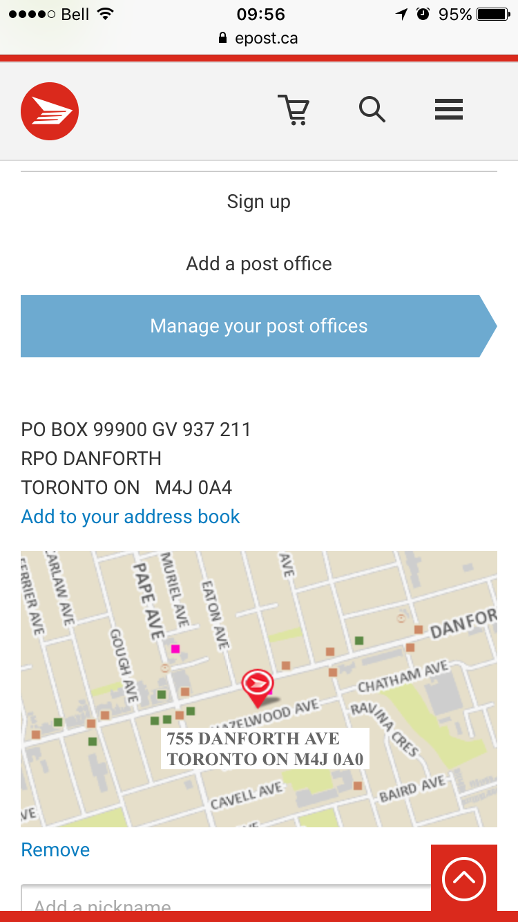 how to change address with canada post