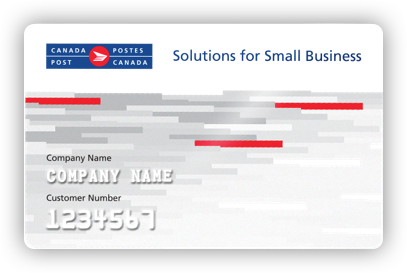 Canada Post Solutions for Small Business member's card