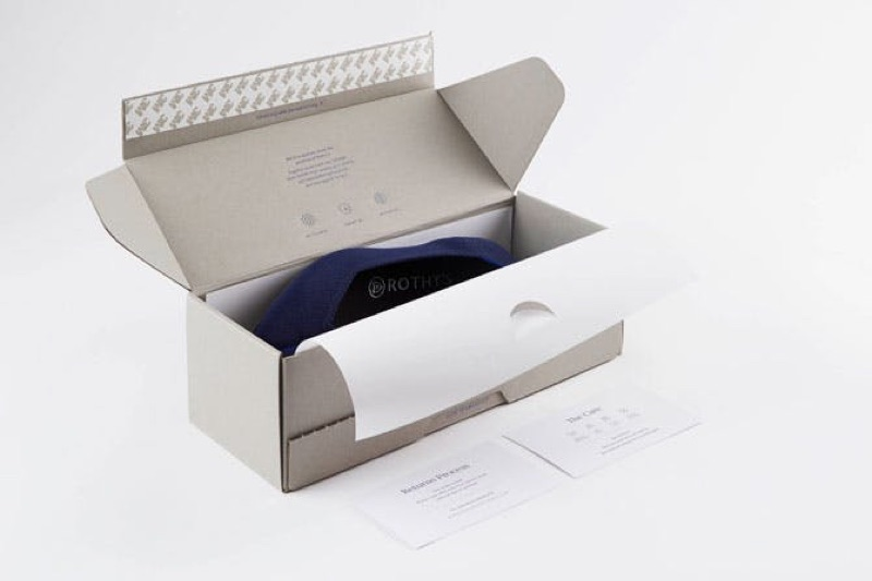 Rothy's eco-friendly shoe box packaging.