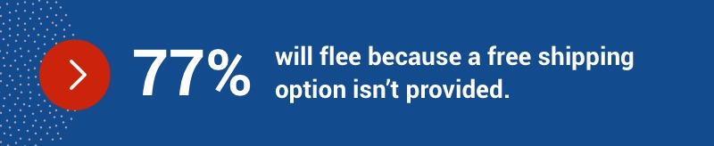 77% will flee because a free shipping option isn't provided.