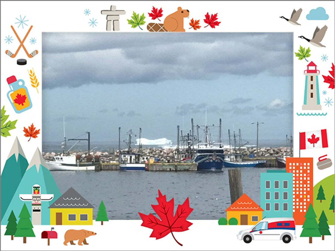 View of Hant's Harbour from the Canada Post office.
