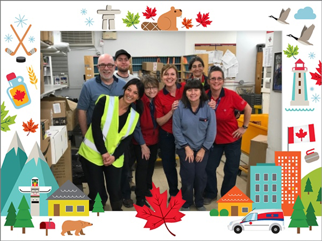 Canada Post employees posing at Prévost Post Office.