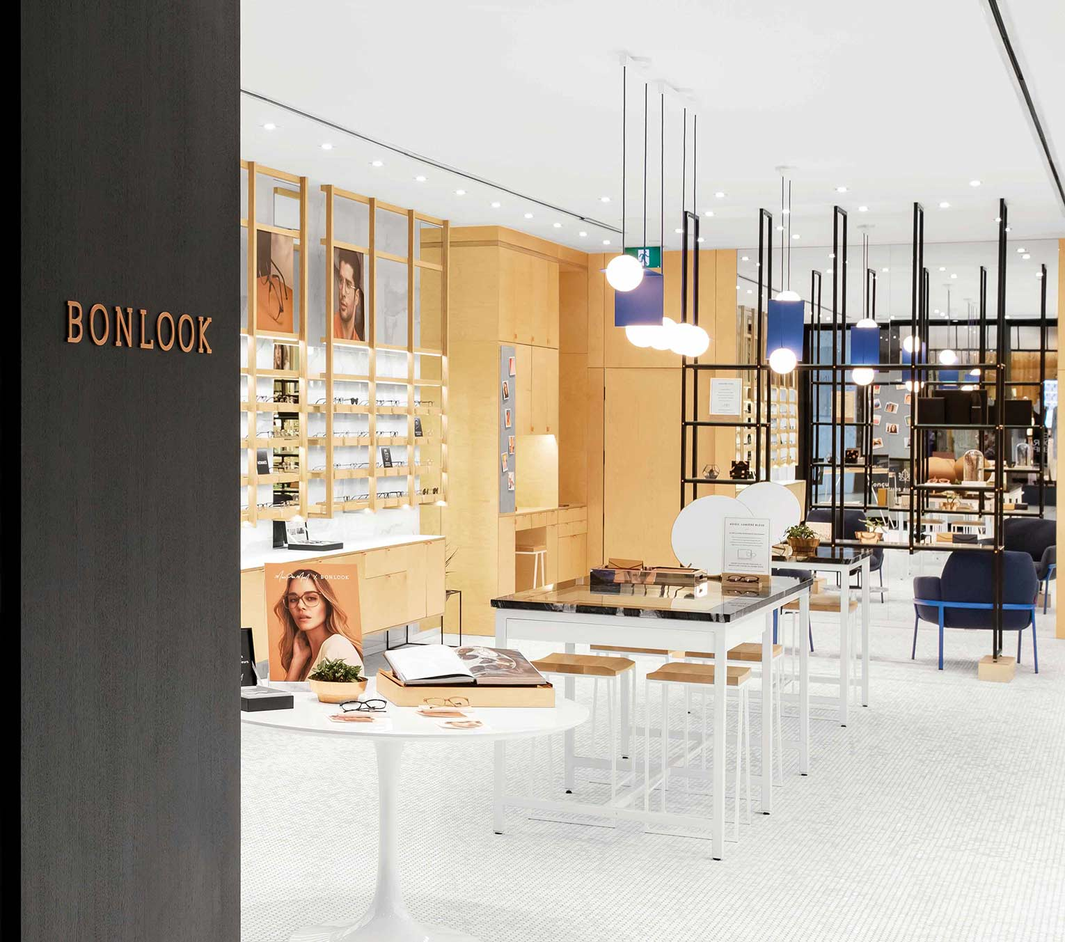 The inside of a BonLook retail location.