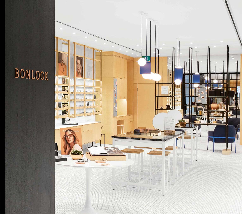 The inside of a BonLook retail location.