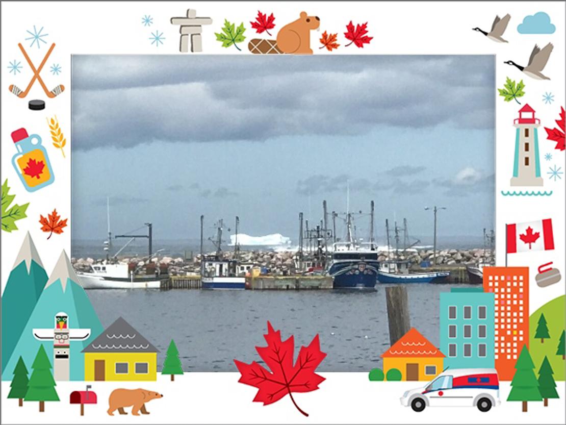 Vue sur Hant's Harbour depuis le bureau de poste du Postes Canada
