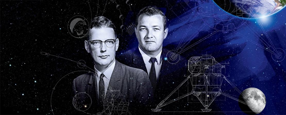 James Chamberlin et Owen Maynard figurent sur le pli Premier Jour officiel d'Apollo 11