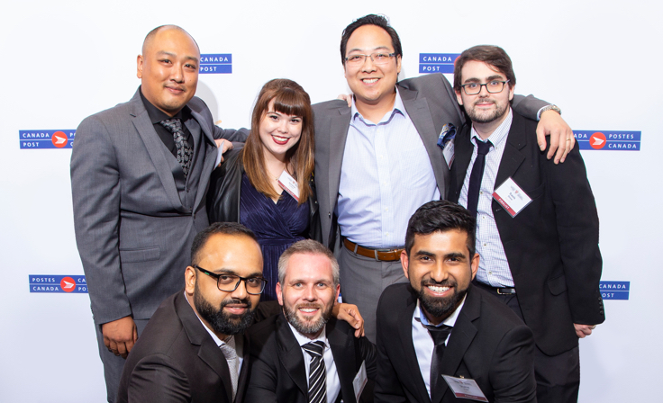 Team from Big Al's at the Canada Post E-commerce Innovation Awards Gala.