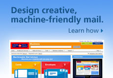 Machineable Mail Advisor. Learn how to design creative, machine-friendly mail.