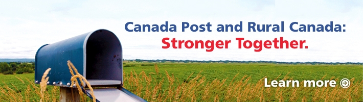 Canada Post and Rural Canada. Stronger Together. Learn more.