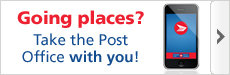 Going places? Take the Post Office with you! Download now.