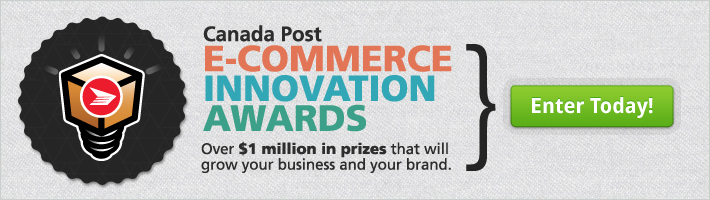 Canada Post E-commerce Innovation Awards. Over $1 million in prizes that will grow your business and your brand. ENTER TODAY