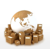 Parcels around a globe
