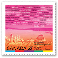 Canada Post marks the XII Summit of la Francophonie with a stamp