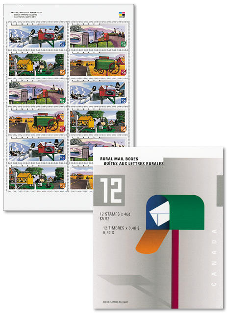 Unsealed booklet of 12 stamps