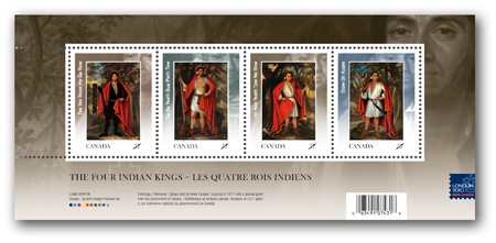 Souvenir sheet of 4 stamps overprint