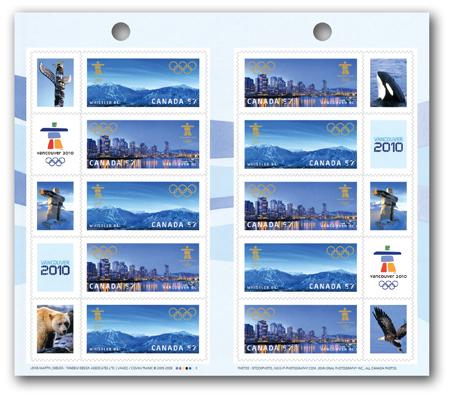 Timbres Officiels (Canada) des Jeux Olympiques de Vancouver 2010 2010_Olympic_Booklet_10