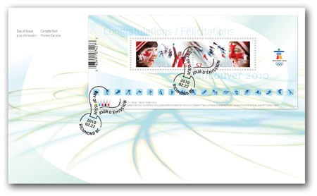Timbres Officiels (Canada) des Jeux Olympiques de Vancouver 2010 2010_Olympic_Closing_OFDC