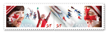 Timbres Officiels (Canada) des Jeux Olympiques de Vancouver 2010 2010_Olympic_Closing_Stamps
