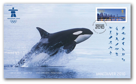 Timbres Officiels (Canada) des Jeux Olympiques de Vancouver 2010 2010_Olympic_OFDC_1