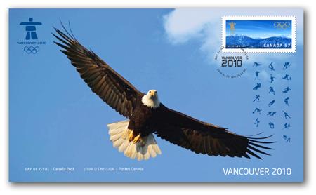 Timbres Officiels (Canada) des Jeux Olympiques de Vancouver 2010 2010_Olympic_OFDC_2