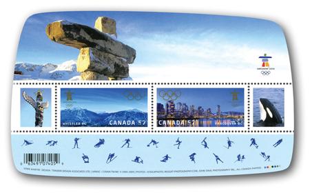 Timbres Officiels (Canada) des Jeux Olympiques de Vancouver 2010 2010_Olympic_Souvenir_Sheet_2