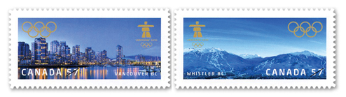 Timbres Officiels (Canada) des Jeux Olympiques de Vancouver 2010 2010_Olympic_Stamp